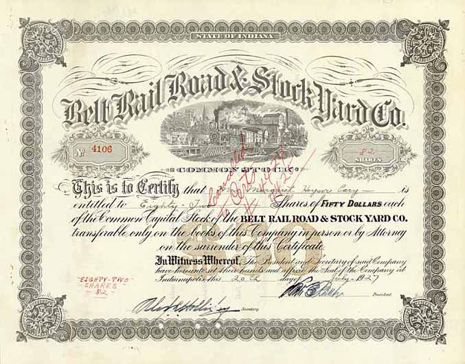 Belt Railroad & Stock Yard Co.
