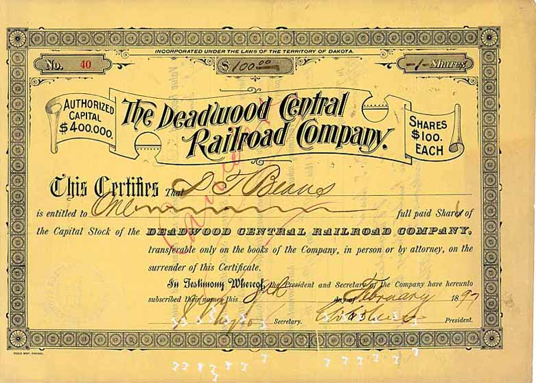 Deadwood Central Railroad