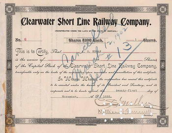 Clearwater Short Line Railway