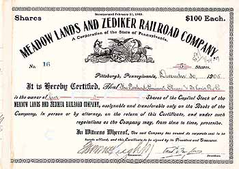 Meadow Lands & Zediker Railroad