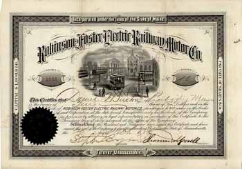 Robinson-Foster Electric Railway Motor Co.