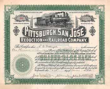 Pittsburgh, San Jose Reduction & Railroad Co.