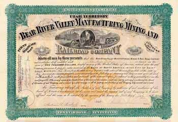 Bear River Valley Manufacturing Mining and Railroad Co.