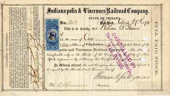 Indianapolis & Vincennes Railroad