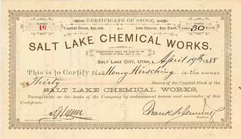 Salt Lake Chemical Works