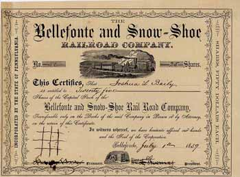 Bellefonte & Snow-Shoe Railroad