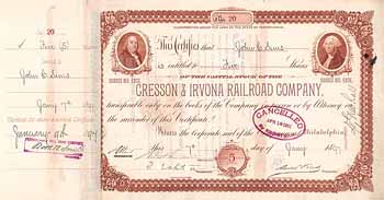 Cresson & Irvona Railroad