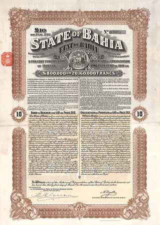 State of Bahia 5 % Funding Loan of 1915
