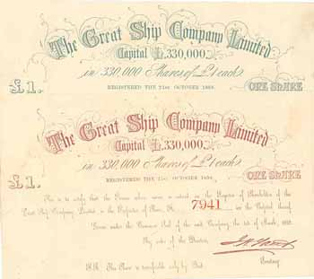 The Great Ship Company Ltd. (2 Stücke)