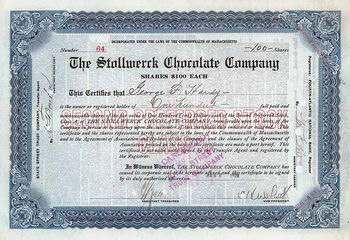 Stollwerck Chocolate Co.