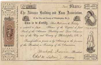 Advance Building and Loan Association of the City and County of Philadelphia No. 2