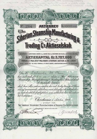 Siberian Steamship, Manufacturing & Trading Co. A/S