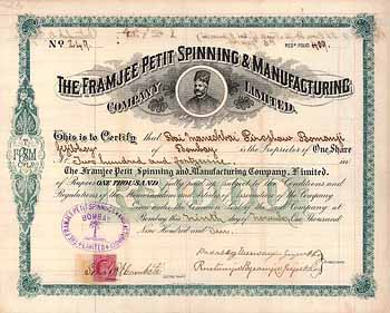 Framjee Petit Spinning & Manufacturing Company Ltd.