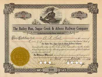 Bailey Run, Sugar Creek & Athens Railway