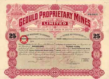 Geduld Proprietary Mines Ltd.