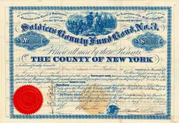 County of New York, Soldiers Bounty Fund Bond No. 3
