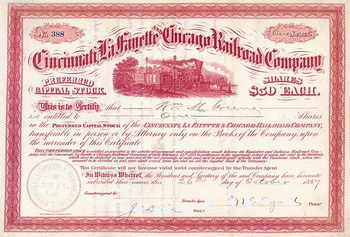 Cincinnati, La  Fayette & Chicago Railroad