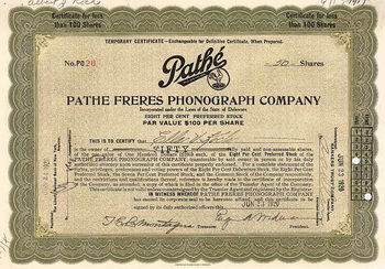 Pathe Freres Phonograph Co.