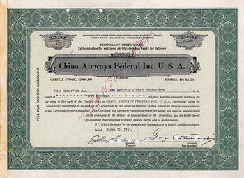 China Airways Federal Inc. U.S.A.