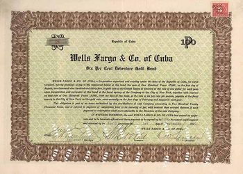 Wells Fargo & Co of Cuba