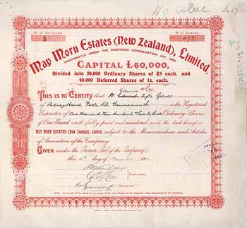 May Morn Estates (New Zealand) Ltd.