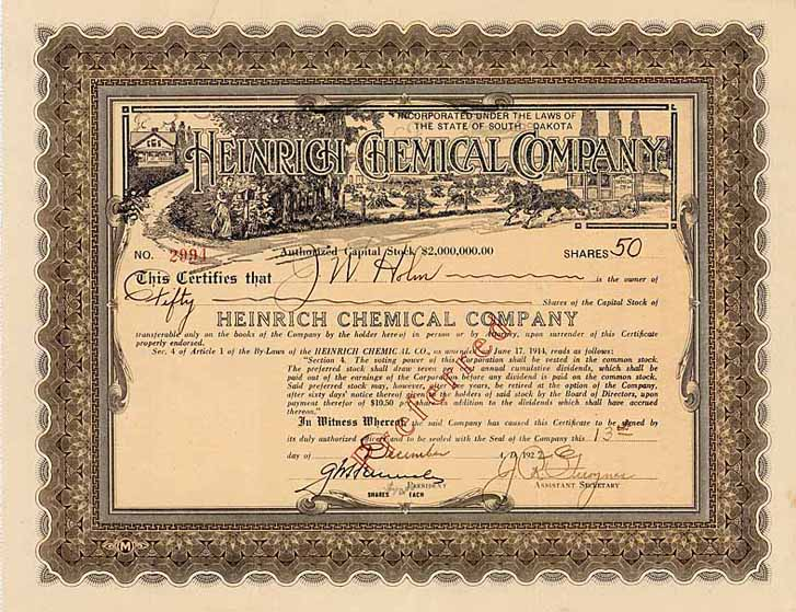 Heinrich Chemical Co.