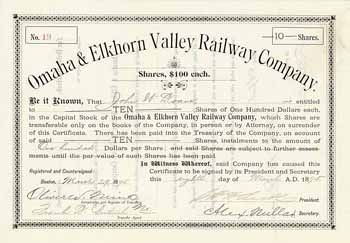 Omaha & Elkhorn Valley Railway
