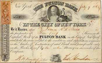 Fulton Bank in the City of New York