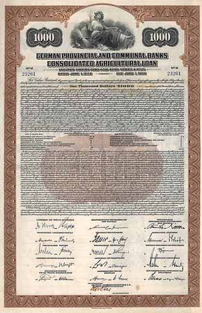 German Provincial and Communal Banks Consolidated Agricultural Loan
