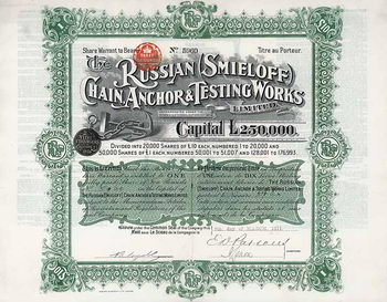 Russian (Smieloff) Chain, Anchor & Testing Works Ltd.