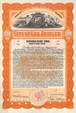 City of Los Angeles Electric Plant Bond