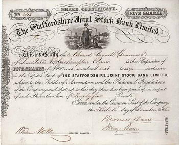 Staffordshire Joint Stock Bank Ltd.