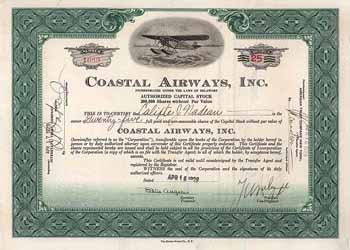 Coastal Airways Corp.