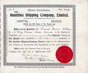 Annittina Shipping Co.
