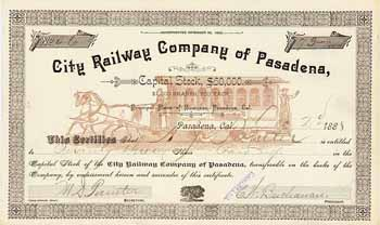 City Railway Co. of Pasadena