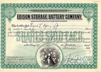 Edison Storage Battery Co. (OU Thomas A. Edison)