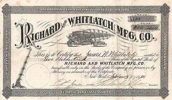 Richard and Whitlatch Mfg. Co.