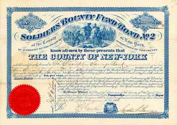 County of New York, Soldiers Bounty Fund Bond No. 2