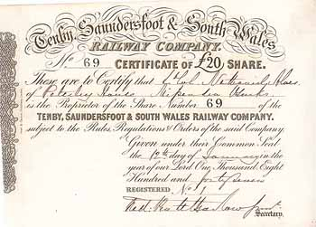 Tenby, Saundersfoot & South Wales Railway Co.
