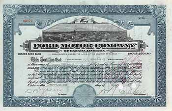 Ford Motor Company of Canada, Ltd.
