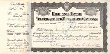 Hilo and Hawaii Telephone & Telegraph Co.