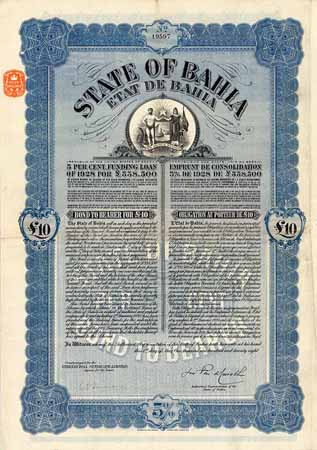 State of Bahia 5 % Funding Loan of 1928