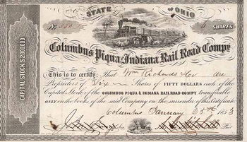 Columbus Piqua & Indiana Railroad