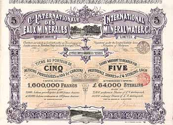 International Mineral Water Co.  (Cie. Internationale des Eaux Minérales S.A.)