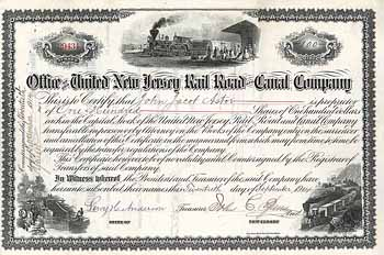 United New Jersey Railroad & Canal Co. (OU J.J. Astor)