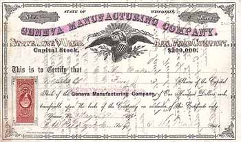 Geneva Manufacturin Co. (State Line & Union Railroad)