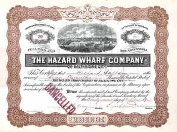 Hazard Wharf Company of Baltimore City