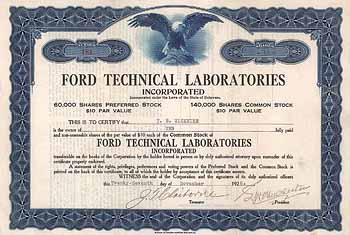 Ford Technical Laboratories Inc.