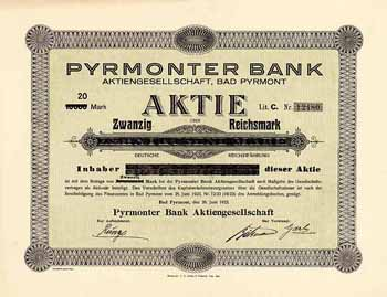 Pyrmonter Bank AG