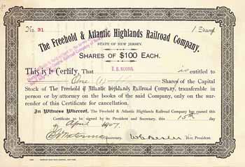 Freehold & Atlantic Highlands Railroad